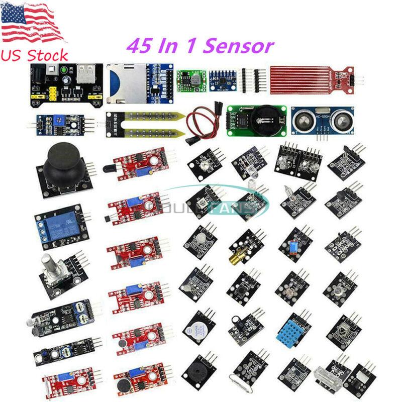 45 In 1 Sensor Module Board Kit For  Arduino Raspberry Pi Education