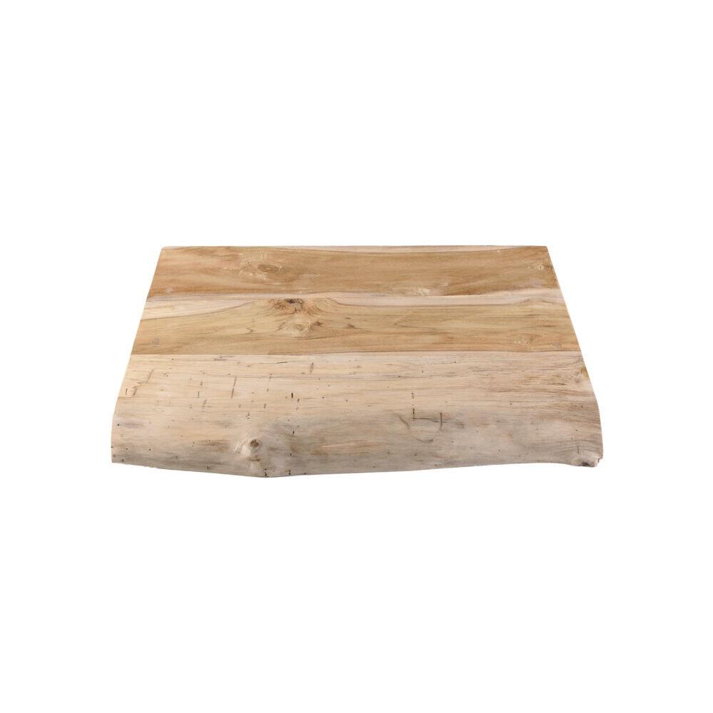 wohnfreuden Teak Waschtischplatte geschliffen 51 cm Teakholz-Platte Echtholz