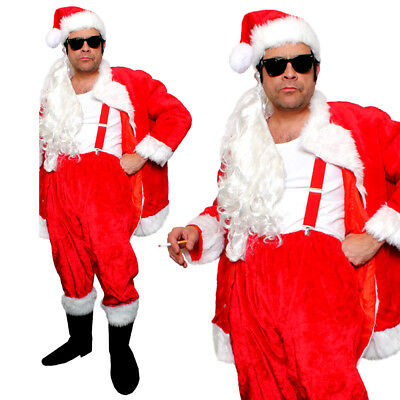 ADULTS DELUXE NAUGHTY SANTA COSTUME BAD SLEAZY MENS FATHER CHRISTMAS FANCY - Bad Santa Kostüm