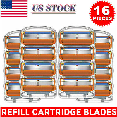 New 16PCS for Gillette Fusion 5-Layer Men's Razor Blade Refills Replacement Gift