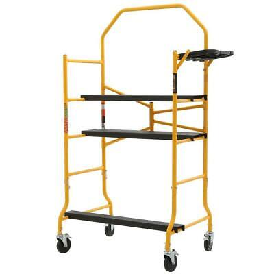 Metaltech Baker Scaffold Portable Rolling 5ft X 4 Ft X 2-12 Ft 900 Lbs Capacity