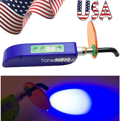 Usa Fast Dental Wireless Cordless Led Curing Light Lamp 1500mw Dentist Blue Fda