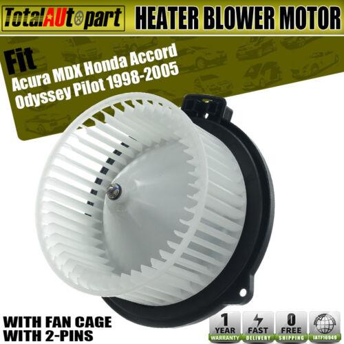 New HVAC Heater Blower Motor Front For Honda Accord 1998