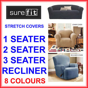 New Surefit Stretch Sofa Lounge Couch Covers Recliner 1