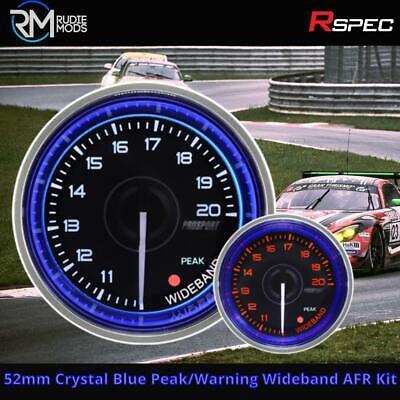 R-SPEC 52mm Crystal Blue Peak/Warning Wideband AFR Kit Car Gauge