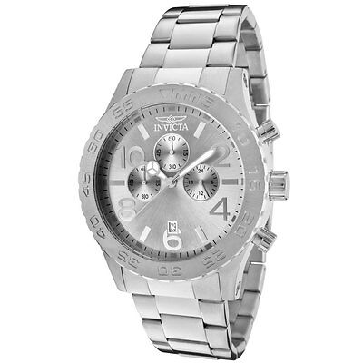 $78.39 - Invicta 1269 Men's Specialty Silver Tone Dial Chronograph Stainless Steel Watch