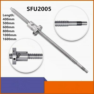 Ball Screw Cnc Parts Sfu2005 Rm2005 20mm L400-1600mm W Deflector Ball Screw Nut