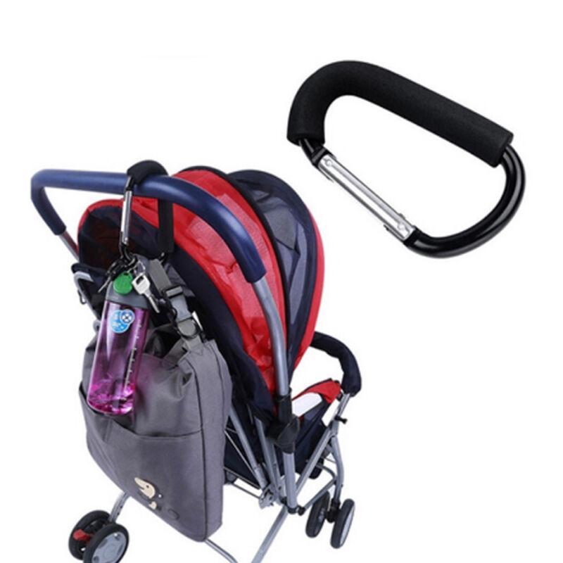 1 5x Kinderwagen Kinderwagen Einkaufstasche Baby Griff Clip Haken  X