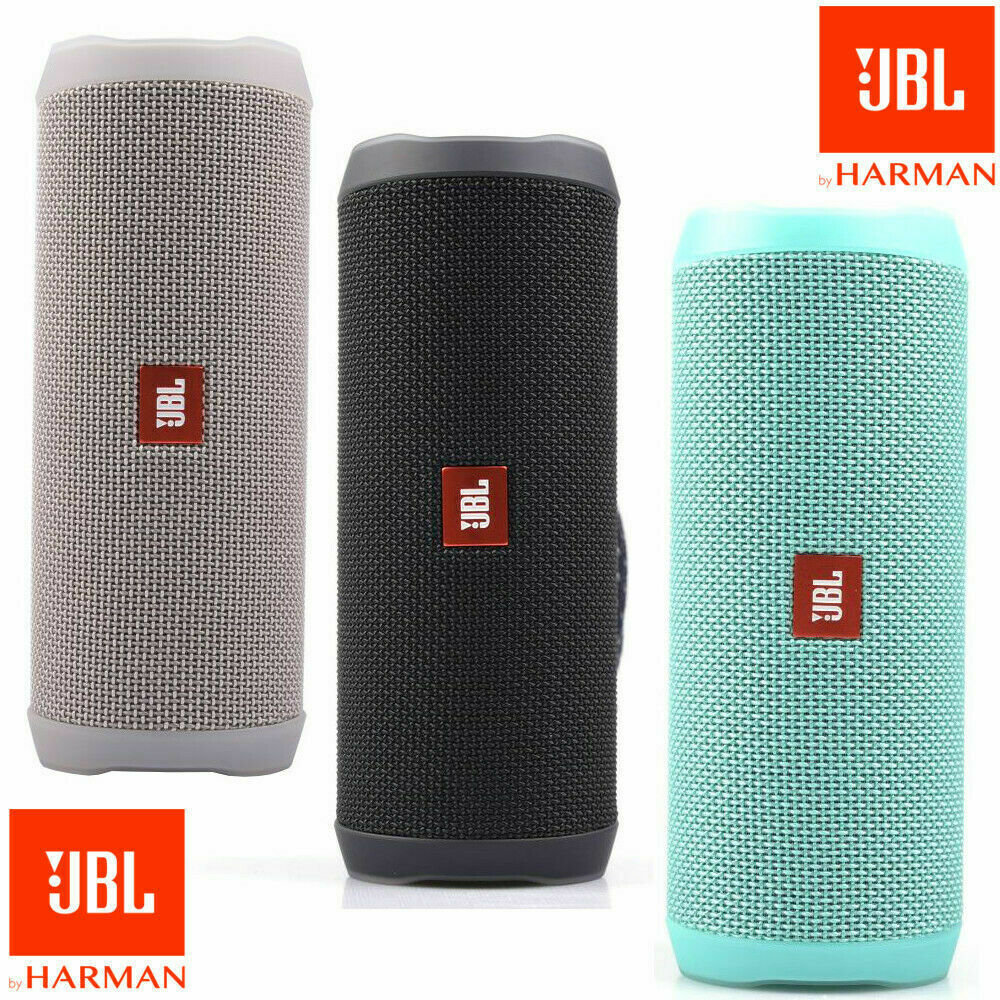 JBL FLIP 4 PORTABLE BLUETOOTH IPX7 WATERPROOF SPEAKER, RED  TEAL BLACK GREY BLUE