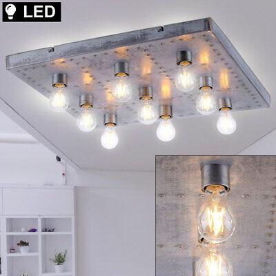 LED Iluminación de Techo Vintage Salón Lámpara Industria Estilo Entarimados