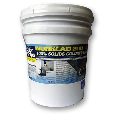 Norklad 200 - 100% Solids Epoxy - Garage Floor Paint (Determine Your Color)