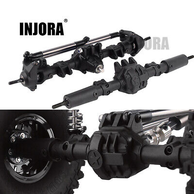 Front Rear Set Straight Axle for 1/10 RC Rock Crawler Axial SCX10 II 90046 90047