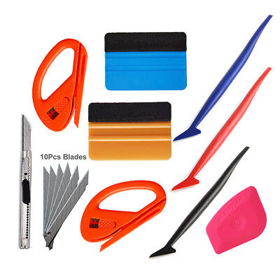 Car Vinyl Wrapping Application Tools Squeegee Micro 3m Felt Snitty Cutter Blades
