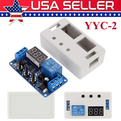 12v Dc Led Automation Delay Timer Control Switch Relay Module With Case Us W1w6
