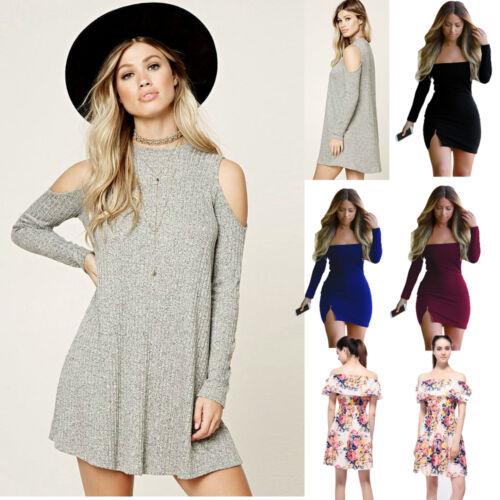 Sexy Women Knit BodyCon Slim Long Sleeve Autumn Winter Party Sweater Mini Dress