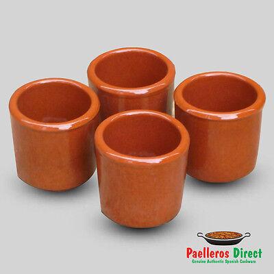 Set of 4 Spanish Terracotta Shot Glasses - Vaso Chupito - 50ml