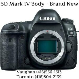 Store Sale - CANON EOS 5D MARK IV BODY - 0 Shutter Count, Brand New In Box