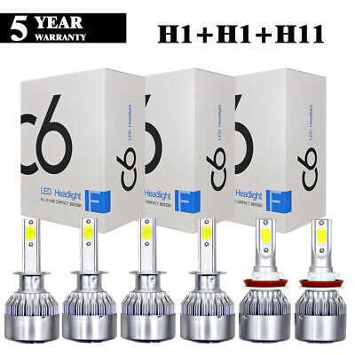 H1+H1+H11 Combo 6000K LED Headlight Kit Hi Low Fog Lights for 2006-2008 Mazda 6 for sale  China