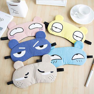 Comfortable Cartoon Sleep Soft Cotton Eye Mask Padded Shade Cover Travel Relax (Cartoon Eye)