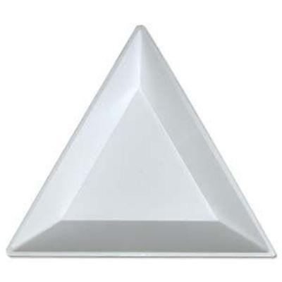 "Plastic Triangle Bead Gem Diamond Sorting Trays - Crafts, Jewelry, Lot of 5 - 3"""