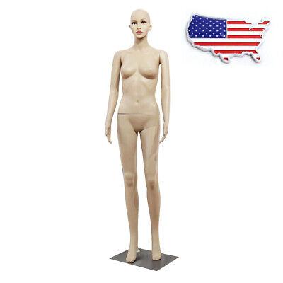 176cm Female Full Body Model Realistic Mannequin Display Head Turns Dress Form