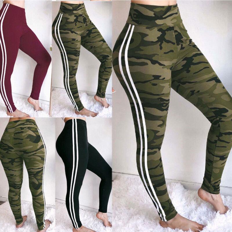 Women Sport Pants High Waist Yoga Fitness Legging Running Gy