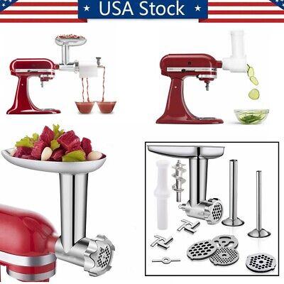 US METAL Meat Grinder Attachment & Slicer Shredder For KitchenAid Stand Mixer Kitchenaid Mixer Grinder Attachment