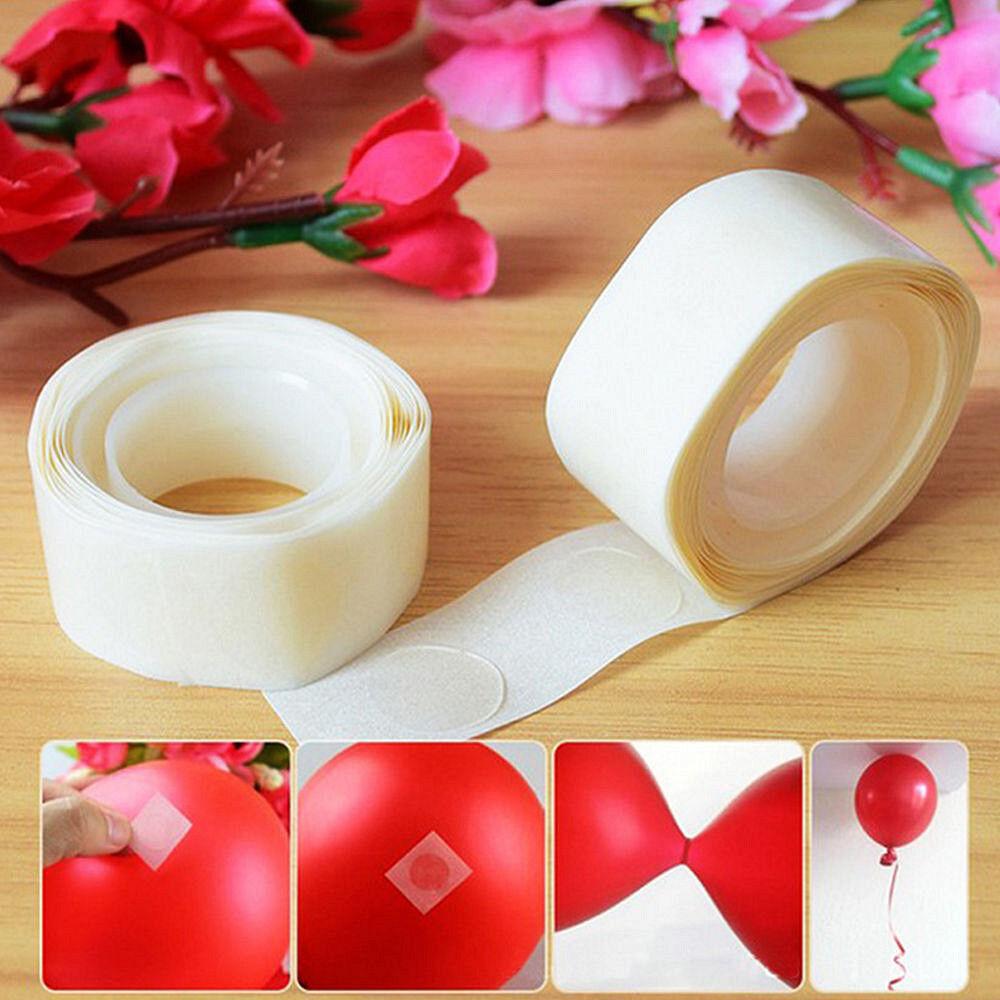 1x 100 Dots Removable Adhesive Glue Dot Foil Balloon Wedding Birthday Decor Tape