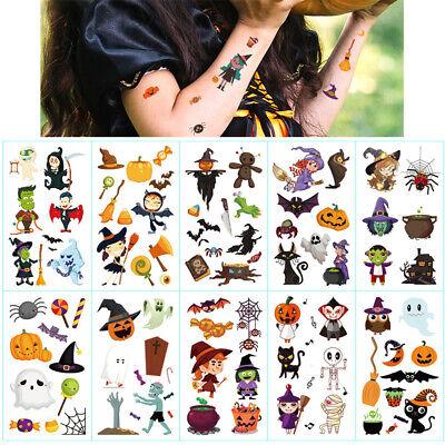Fake Tattoos For Halloween (Temporary Tattoos Halloween Fake Tattoo Multicolored For Kids Boy Girl 10)