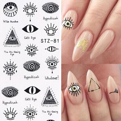 Halloween Eyes Nail Art (Nail Art Water Decals Stickers Transfers Halloween Tribal Eyes Eye Eyelashes)