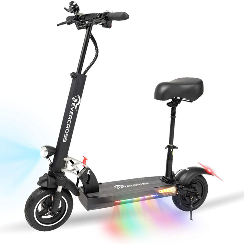 Electric Scooter 30MPH 10AH Folding E-Scooter 800w Motor For Adults Black