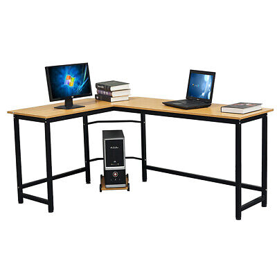 L-Shaped Corner Computer Office Desk Modern PC Laptop Table Workstation L-shaped Office Table