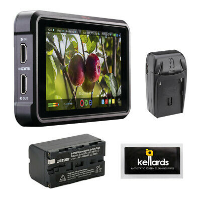 """Atomos Ninja V 5"""" 4K HDMI Monitor w/ Battery Pack, Charger & Cleaning Wipes"""