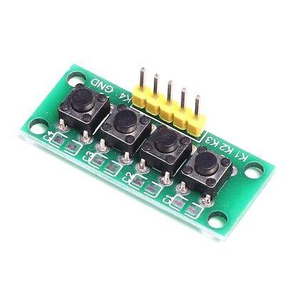 1x4 4 Keys Button Keypad Keyboard Breadboard Module For Arduino Ca