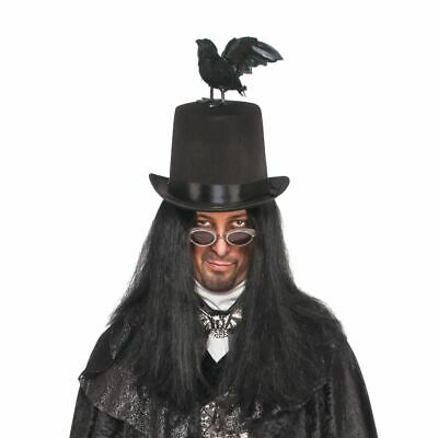 Raven top hat with Black - Black Bird Kostüme