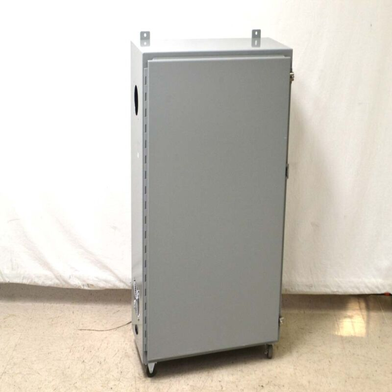 """Hammond 1418012 Mobile Electrical Enclosure 42"""" x 30"""" x 12"""" w/ 2"""" Casters"""