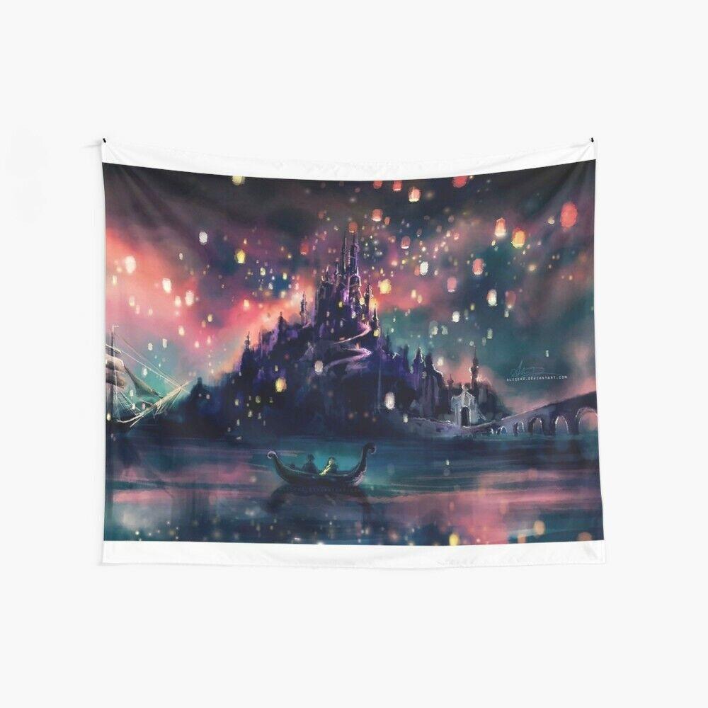 Wish Lantern Wall Tapestry, Love Romance Wall Hanging, Disne