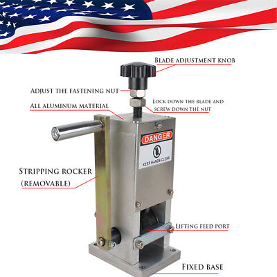 Manual Copper Wire Stripping Machine Hand Crank Drill Operated Cable Stripper