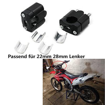 2x Lenkererhöhung Lenkeradapter Einstellbarer Alu für Motorrad 22/28mm Lenker