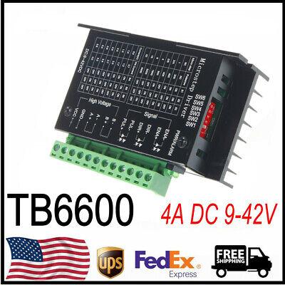 Cnc Tb6600 Driver 4a 9-42v Controller Stepper Motor Us Shipping