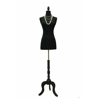 Size 2-4 Female Mannequin Dress Form Black Base Fwpb-4 Bs-atq-bk