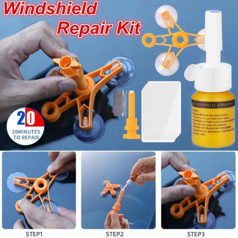 Car Auto Window Windshield Repair Tools Kits Glass Windscreen Screen Polish Scar