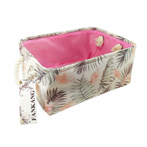 Rectangular Fabric Storage Bin Toy Box Laundry Basket Nursery Storage Hamper New Home & Garden
