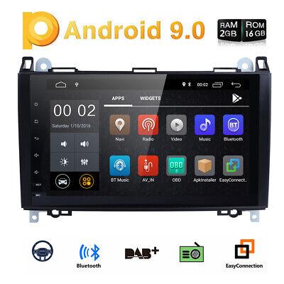 """9"""" Android 9.0 NAVI Autoradio GPS DAB  für Mercedes Benz W169 W245 Sprinter W906"""