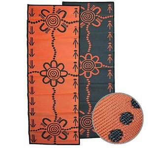 EMU & KANGAROO TRACKS Aboriginal Design Recycled Runner Mat