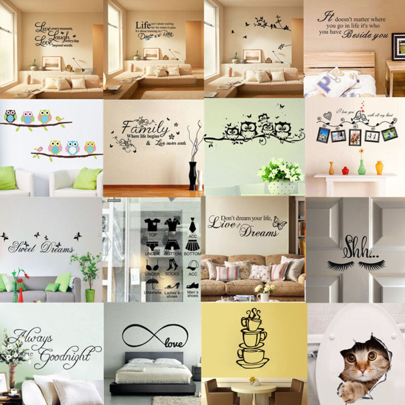 Home Decoration - DIY Quote Wall Stickers Decal Vinyl Art Mural Removable Home Room Decor Bedroom