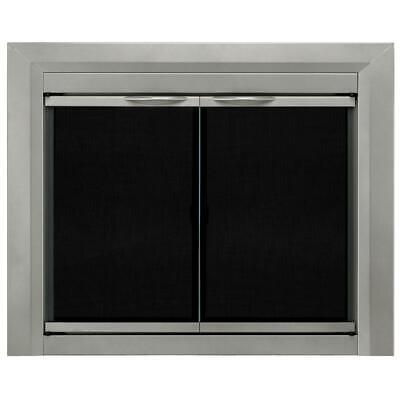 Pleasant Hearth Colby Cabinet Style Fireplace Screen and Smo