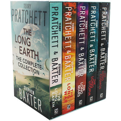Terry Pratchett,Stephen Baxter The Long Earth The complete Collection 5 Book Set