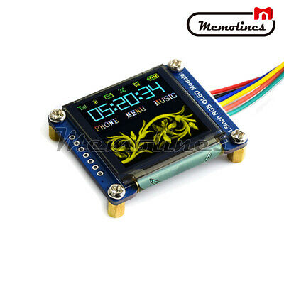 1.5 Inch Rgb Oled Display 128128 Expansion Module Ssd1351 Spi For Raspberry Pi