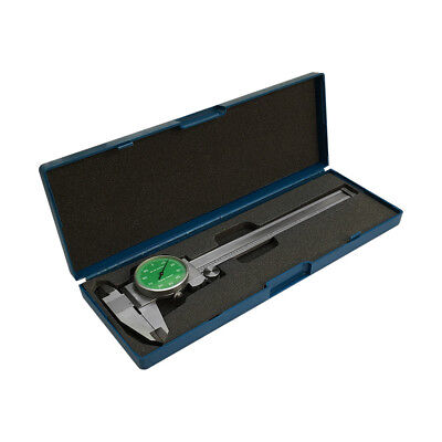 Green - 4 Way Dial Caliper 6 Stainless Steel Shock Proof 0.001